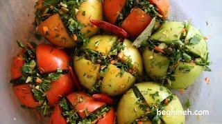 Stuffed Pickled Tomatoes - Armenian Cuisine - Heghineh Cooking Show