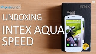 Intex Aqua Speed Unboxing and Quick Review - 2 GB RAM on Budget