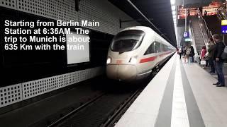Inside Germany's High Speed Train   Berlin Munich 2018