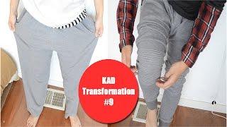 DIY: Baggy sweatpants to Ribbed jogger sweats!   KAD Transformation #9