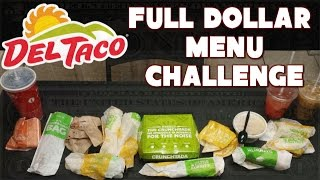 Del Taco $20 Challenge: Full Dollar Menu *Buck and Under* | FreakEating vs the World 133