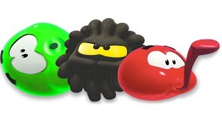 Learn Colors With SQUISHY BALLS Funny Cartoons WonderBalls For Kids Cartoon Candy