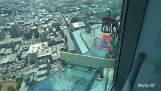 Outdoor Glass Skyslide - 1,000 Feet above L.A - 1st of it Kind - QUE SkySpace L.A