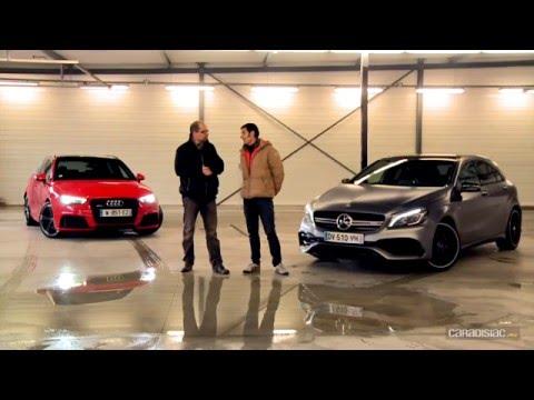 Comparatif par Soheil Ayari Audi RS3 vs Mercedes A45 AMG histoire de suprématie