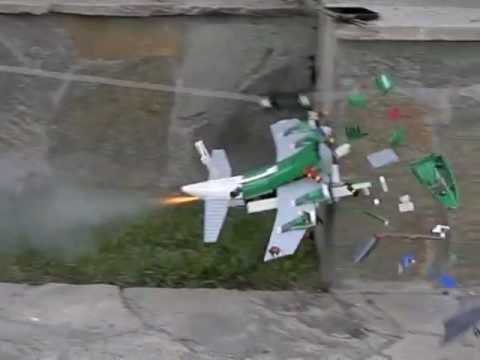 lego rocket plane 3rd flight in slow motion