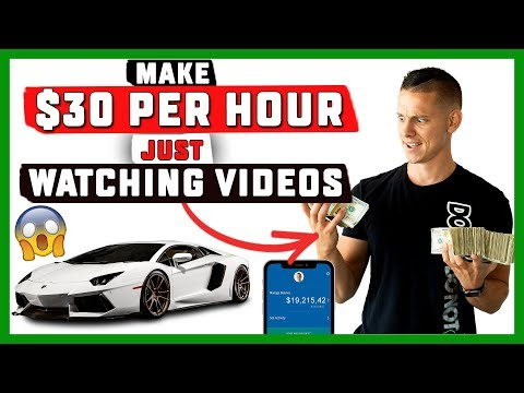 How To Make $30 Per Hour Just BY WATCHING VIDEOS Online (EASY 2019)
