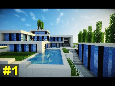 Minecraft como construir uma mans o moderna 3 parte 1 for Casas super modernas
