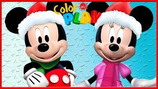 Mickey & Minnie Mouse Clubhouse - Play Christmas Color 3D Decorate - Disney Junior App For Kids