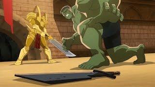 Planet Hulk: Hulk vs Red King & Caiera