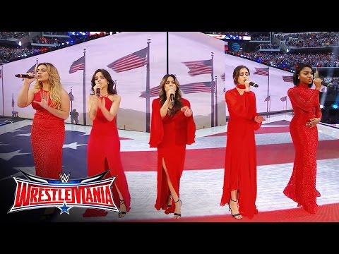 Xxx Mp4 Fifth Harmony Sings America The Beautiful WrestleMania 32 April 3 2016 3gp Sex