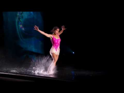 Freckled Sky: Dancers Wow With Waterfall of Images - America's Got Talent 2015 - Jessica Vids69