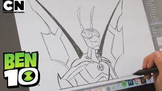 Ben 10 | How to Draw: STINKFLY | Cartoon Network