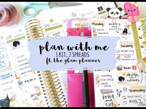 Plan With Me One kit Two spreads ft. The Glam Planner
