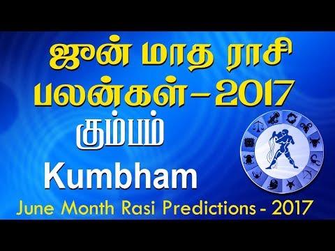 Kumbha Rasi (Aquarius) June Month Predictions 2017 – Rasi Palangal