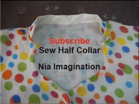 Sew Latest half collar High Neck design easy
