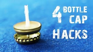 4 Incredible Creative things using Bottle Caps - Life Hacks