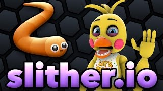 TOY CHICA PLAYS: Slither.io || GET ALL THE SHINY THINGS!!!