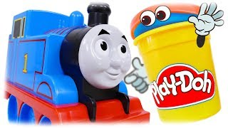 TRAINS FOR CHILDREN VIDEO: Thomas and Friends Play Doh Train Toys
