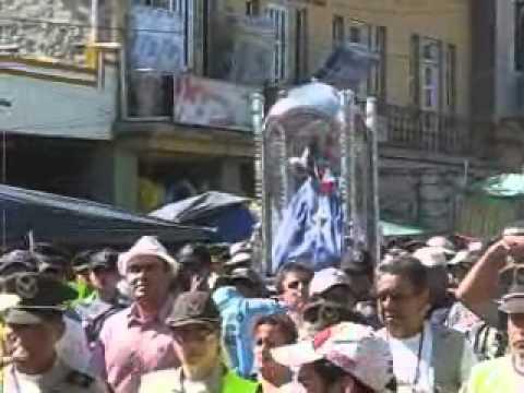 llegada virgen de El cisne a Catamayo