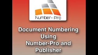 Numbering with Number-Pro and Publisher