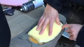 How to repair your seat with foam