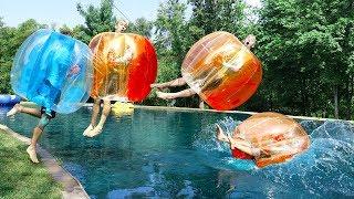 GIANT BUBBLE BALL CHALLENGE!!