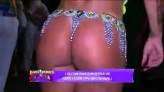 bastidores do carnaval Dani Sperle faz agachamento de tapa sexo invis vel 04 03 2014 mircmirc