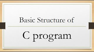 Basic structure of c program.Bangla tutorial.learn c programming a to z.