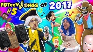 FGTEEV Songs of 2017 FINALE w/ Gummy Bear Guy! RedBall, TABS, Minecraft, Raft, Injustice League
