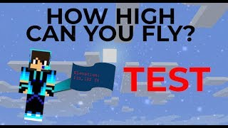 HOW HIGH CAN YOU TRAVEL ON A MINECRAFT MAP??? (Test)