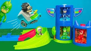 PJ MASKS DISNEY Rival Racers Track with Catboy and Night Ninja Toys