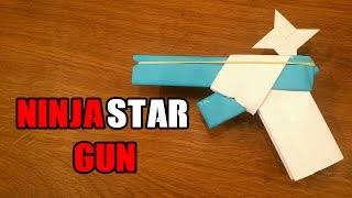 How To Make a Paper Gun That Shoots Ninja Stars - With Trigger
