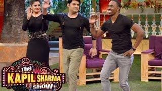 Dwayne Bravo and Raveena Tandon At The Kapil Sharma Show