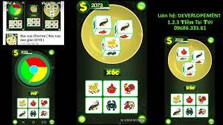 "Download to try on App: Bau cua Chorme, a Game ""Bau cua dângian 2018"