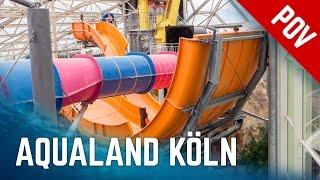Alle Rutschen im Aqualand Köln   All Water Slides Onride (2016 Version)