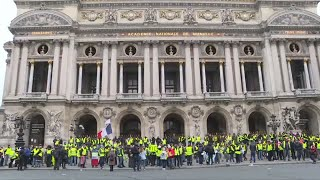 Yellow Vest protesters gather for