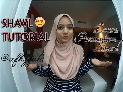 Cara Memakai Shawl Yang Simple - Review Lazada by Aifa Haziqah