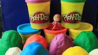 Masha i medved  PlayDoh  Маша и медведь  Surprise eggs unboxing Маша и Медведь PlayDoh