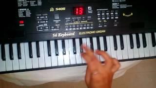 Kanji kya RMI aavya raas garba song on keyboard
