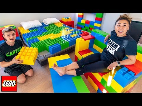 I TURNED HIS ROOM INTO LEGOS