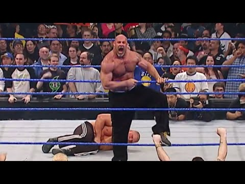 Goldberg is arrested after attacking Brock Lesnar WWE No Way Out 2004