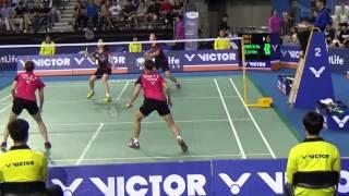 Victor Korea Open 2015 | Badminton SF WD | Chang Y N/Lee S H vs Jung K E/Shin S C 2SET