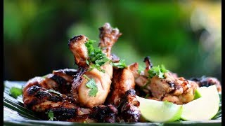 Grilled Chicken Recipe _ How to Make Caribbean Grilled Chicken BBQ 🍍