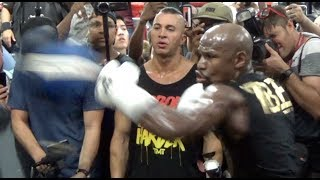 TOO QUICK FOR McGREGOR? - FLOYD MAYWEATHER SHOWS STUNNING SPEED ON THE FLOOR TO CEILING SPEEDBALL