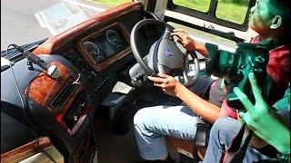 Nyamannya naik Bus Matic Pandawa 87 Scania K360 Opticruise Premium class