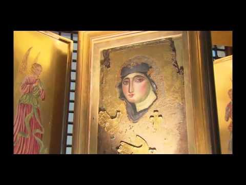 Icono de la Virgen María del Rosario en el Monte Mario de Roma