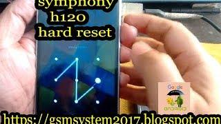 symphony h120 hard reset