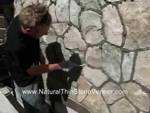 Natural Stone Veneer Grouting