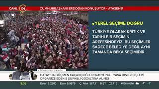 Başkan Erdoğan, Ataşehir mitinginde halka hitap etti (16 Şubat 2019)