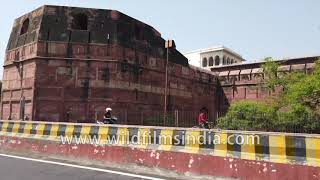Agra Fort gyro stabilized 4K drive-by